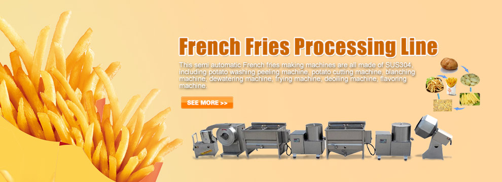 Semi Automatic French Fries Mak