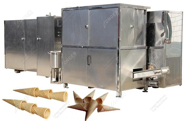 Automatic Ice Cream Cone Product Line|Waffle Ice Cream Cone Maker Machine