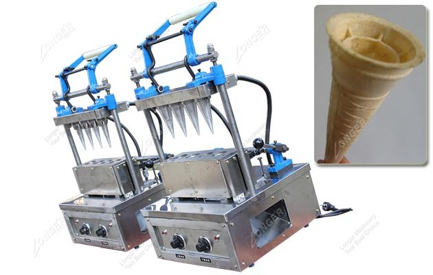 Commercial Ice Cream Cone Manufacturing Machine With 4 Heads
