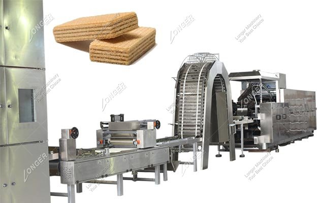 Vanilla Cream Wafer Biscuit Making Machine for Gas Type
