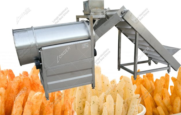 Drum Potato Chips Flavoring And Seasoning Machine For Sale