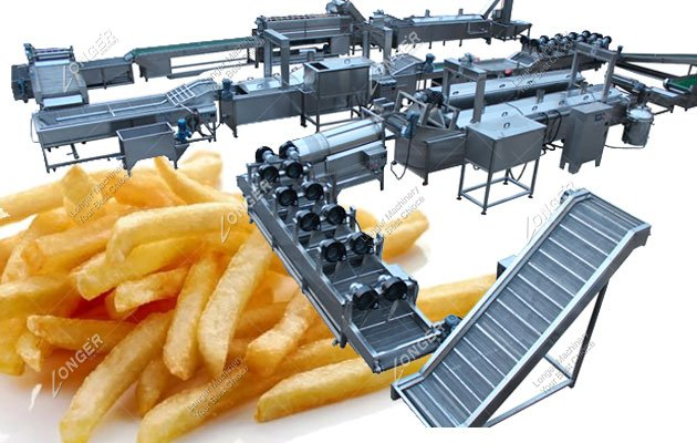 100kg/h Small Scale French Fries Production Line Manufacturers